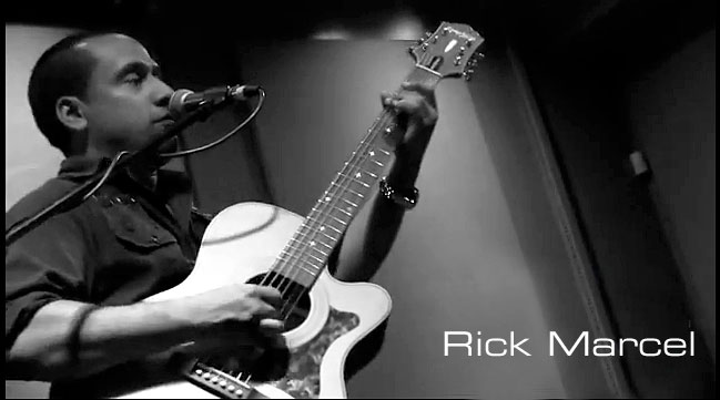 Guitarist Rick Marcel and the Epiphone Masterbilt EF-500RCCE