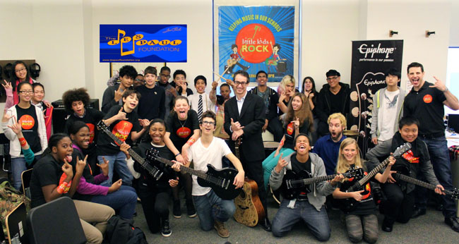 The Les Paul Foundation Helped Little Kids Rock Across the Country with a Grant and Surprise Epiphone Guitar Delivery