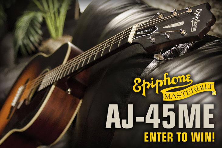 Win an Epiphone AJ-45ME Masterbilt