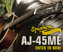 Enter to Win an AJ-45ME Masterbilt Acoustic Guitar
