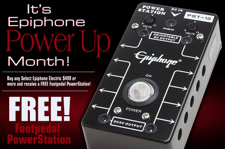 It's Epiphone Power Up Month!