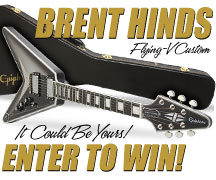 Enter to Win a Brent Hinds Flying V Custom guitar