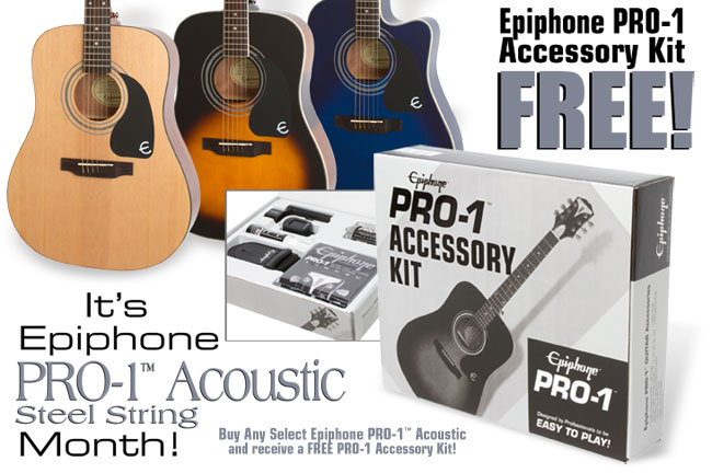 Buy A PRO-1 Acoustic in August and Get a Free PRO-1 Acoustic Accessory Kit