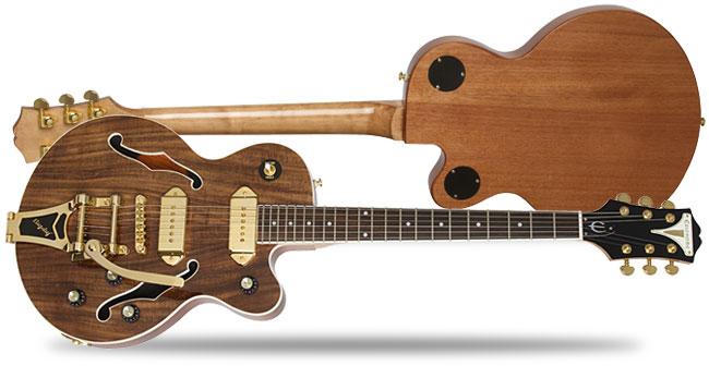 epi lp custom koa and wildcat koa epiphone guitars. Black Bedroom Furniture Sets. Home Design Ideas
