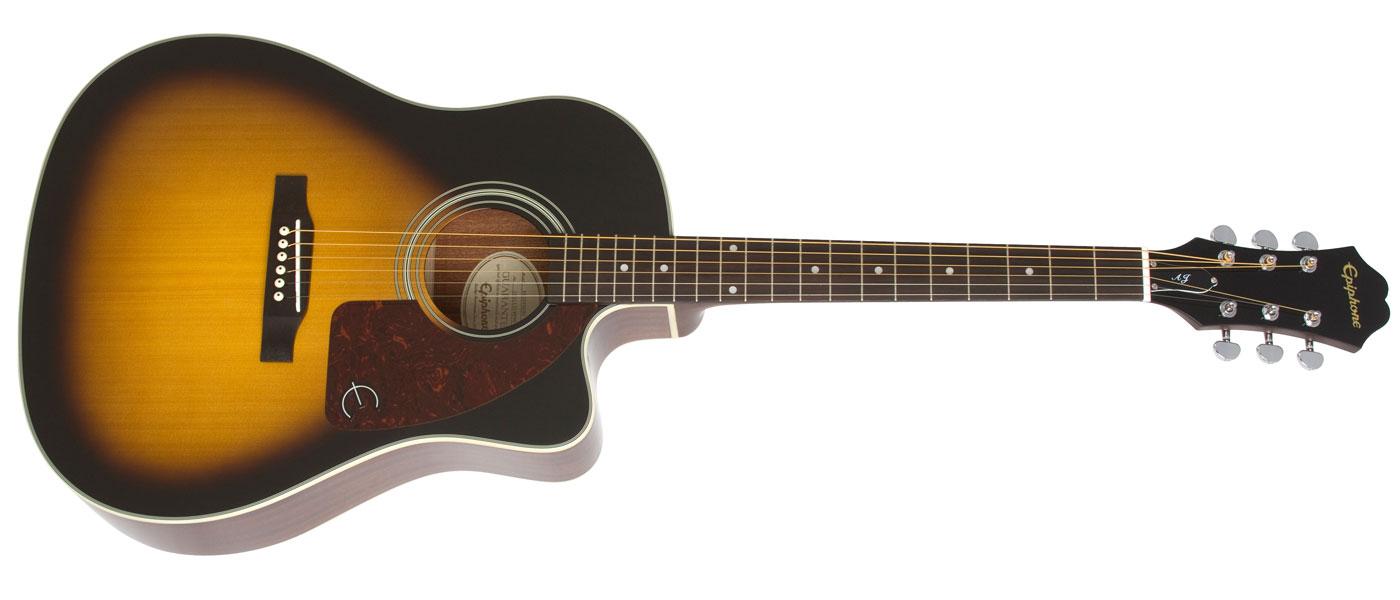 474294d9512 Vintage Sunburst (VS); Natural (NA). Epiphone AJ-210CE Acoustic/Electric  Outfit ...