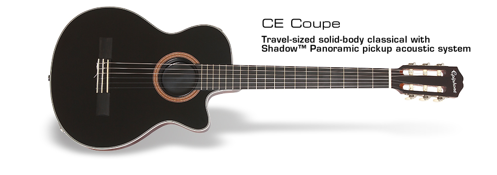 CE Coupe (Nylon String) : Easy travel no-feedback solid body classical with Shadow® Panoramic  pickup system