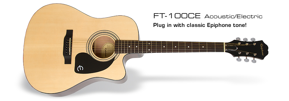 FT-100CE: Plug in with classic Epiphone tone