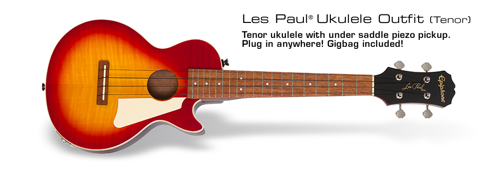 Les Paul® Tenor Acoustic/Electric Ukulele : Featuring Under Saddle Pickup
