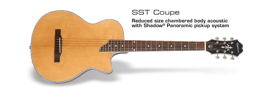 SST Coupe (Steel String) : Easy travel no-feedback solid body classical with Shadow® Panoramic pickup system