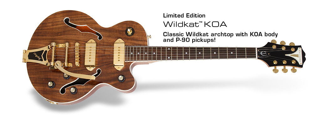 Epiphone Ltd. Ed. Wildkat KOA: