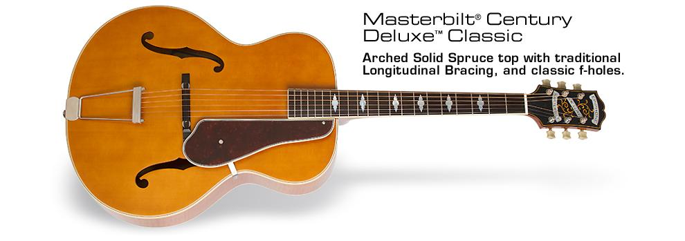 Epiphone Masterbilt® De Luxe™ Classic Acoustic/Electric Guitar: