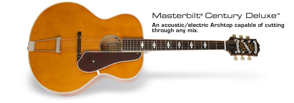 Epiphone Masterbilt® De Luxe™ Acoustic/Electric Guitar: