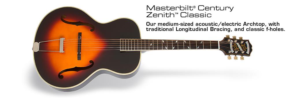 Epiphone Masterbilt® Zenith Classic™ Acoustic/Electric Guitar: