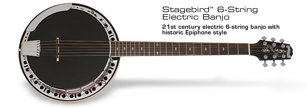 Epiphone Stagebird™ 6-String Electric Banjo: