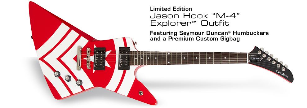 "Epiphone Ltd. Ed. Jason Hook ""M-4"" Explorer Outfit:"