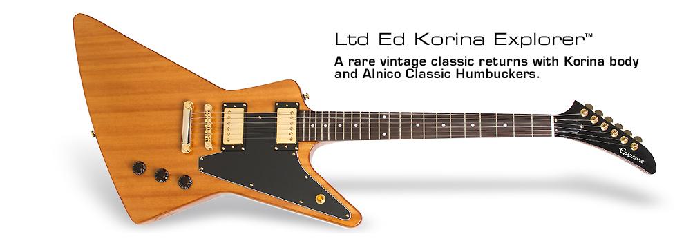 Epiphone Ltd. Ed. Korina Explorer: