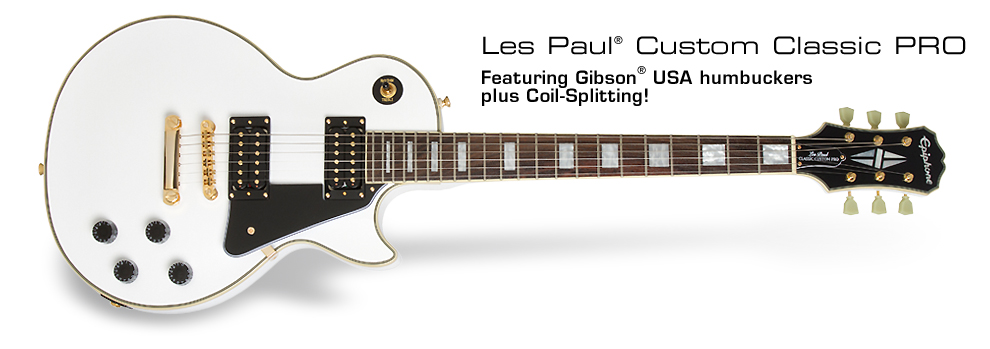 Les Paul Custom Classic PRO: Featuring Gibson USA humbuckers plus Coil-Splitting!