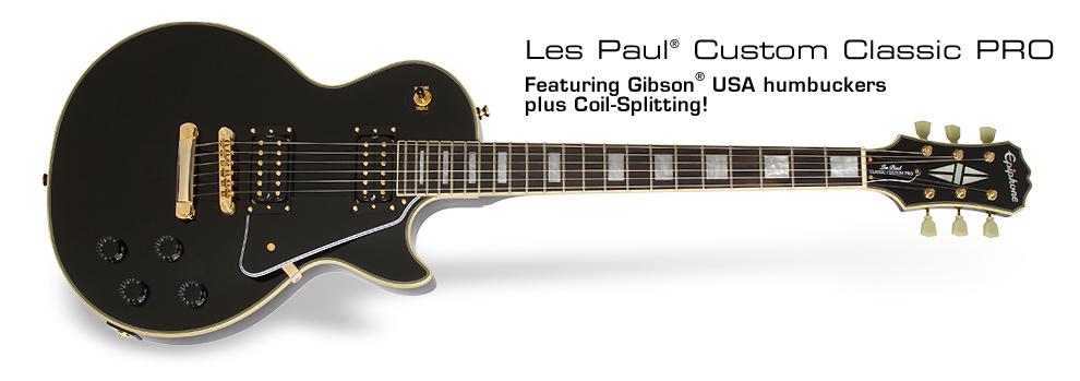 Les Paul Custom Classic PRO: Featuring ProBuckerTM humbuckers plus Coil-Splitting!