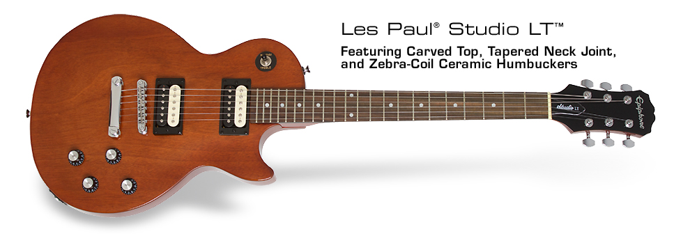 Les Paul Studio LT™ Electric Guitar: Featuring Carved Top, Tapered Neck Joint, and Zebra-Coil Ceramic Humbuckers