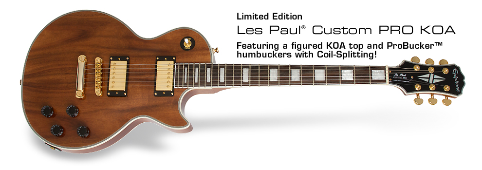 Epiphone Ltd. Ed. Les Paul Custom PRO KOA: