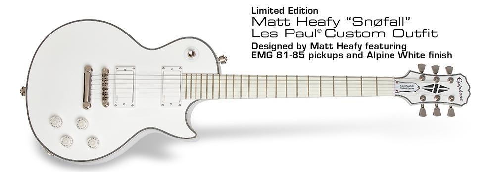 "Epiphone Ltd. Ed. Matt Heafy ""Snøfall"" Les Paul Custom Outfit (6-string):"