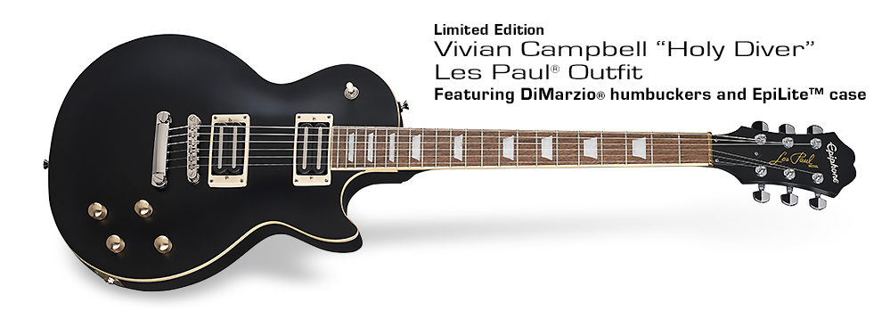"""Vivian Campbell """"Holy Diver"""" Les Paul Outfit : Featuring DiMarzio® humbuckers and EpiLite™ case"""