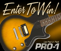 Enter to Win an Epiphone PRO-1 LP JR Performance Pack