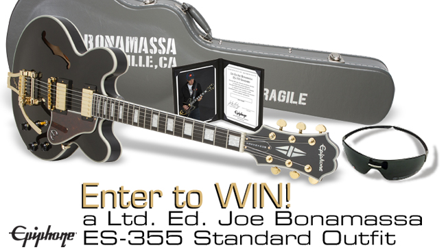 ac974033323 Win a Ltd. Ed. Joe Bonamassa ES-355 Standard Outfit plus a pair of ...