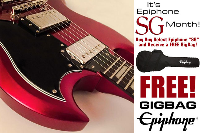 January 2017 Epiphone Consumer Promotion