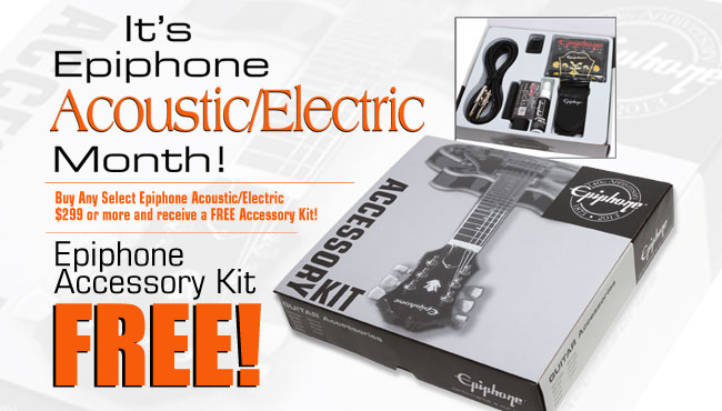 "Buy any select Epiphone ""Pack"" and receive a FREE Belt Pack"