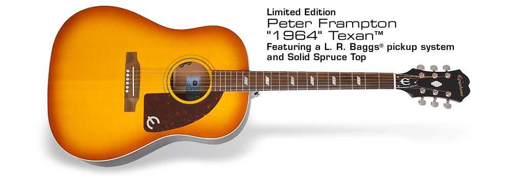 "Ltd. Ed. Peter Frampton ""1964"" Texan: Featuring a L. R. Baggs® pickup system, Solid Spruce Top, and rare Faded Vintageburst finish"